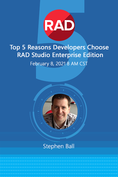 024 Banners Webinar Top 5 Reasons Developers Choose Rad Studio Enterprise Edition April 01 18 400x600
