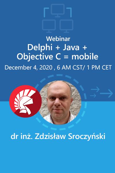 05 Banner Webinar Delphi  Java  Objective C Zdzisaw Sroczynski 400x600
