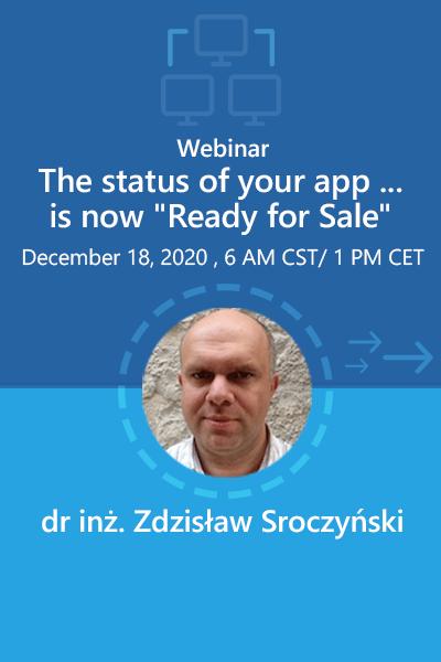 05 Banner Webinar The Status Of Your App Zdzisaw Sroczynski 400x600
