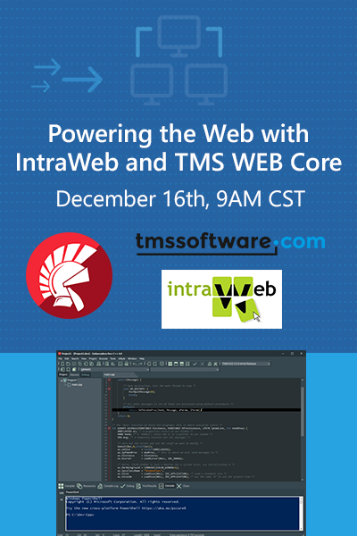 14 Banner Webinar Powering The Web With Intraweb And Tms Web Core 400x600