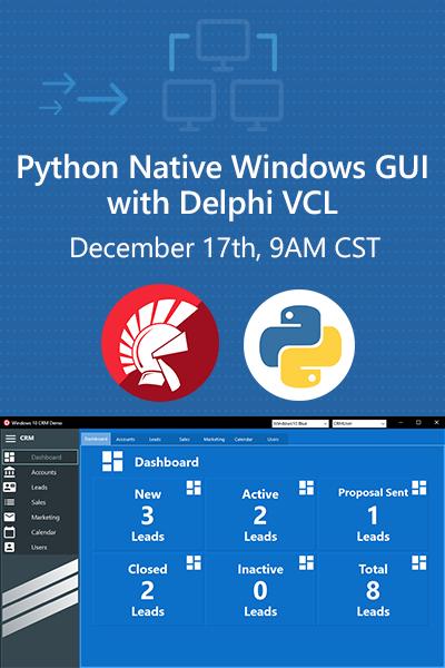 18 Banner Webinar Python Native Windows Gui With Delphi Vcl 400x600