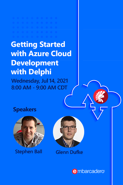 40 Banners Webinars Getting Started With Azure Cloud Development With Delphi 400x600