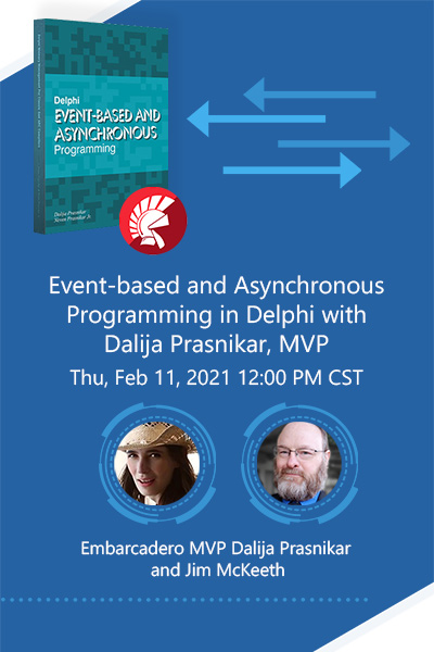 Banner Event Based And Asynchronous Programming In Delphi Webinar 400x600