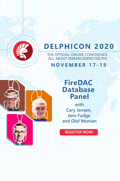 Delphicon 2020 Firedac  Database  Panel 400x600