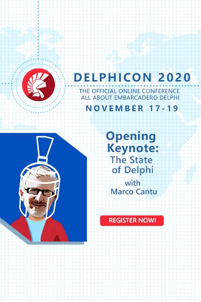 Delphicon 2020 Marco Cantu 400x600