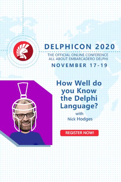 Delphicon 2020 Nick Hodges 400x600