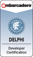 Delphi Developer Certification emblem
