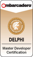 Delphi Master Developer Certification emblem