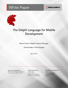 Delphi Mobile Dev Whitepaper