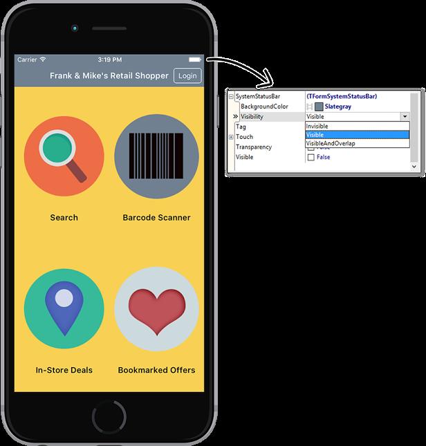 FireMonkey Status Bar iOS Option 1